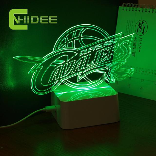 CNHidee USB Novel Lâmpada NBA 3D LED Luzes Da Noite como Quarto Home Decorativa Além Disso Lampara para Cavalier Equipe