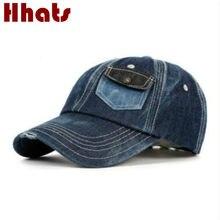 Que en la ducha hombres ocasionales desgaste denim gorra de béisbol hip hop  bolsillo jean snapback sombrero vendimia lava gorros. c971d623ad6