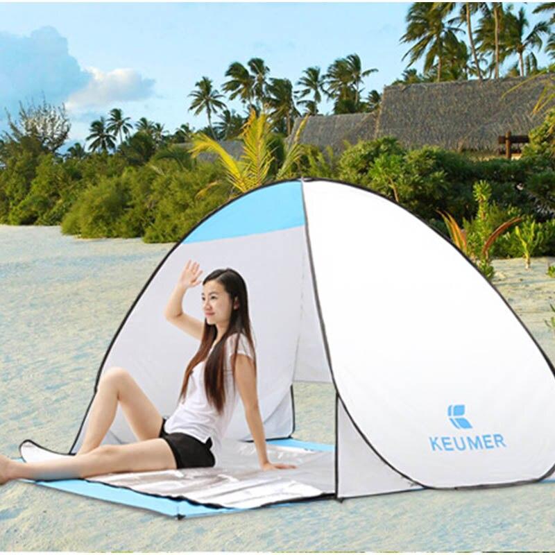 Автоматическая Пляжная Палатка УФ защитный тент от солнца тент с ковриком