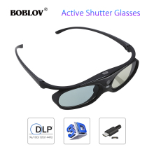 BOBLOV JX-30 3D Active Shutter Glasses DLP-Link 96Hz/144Hz U