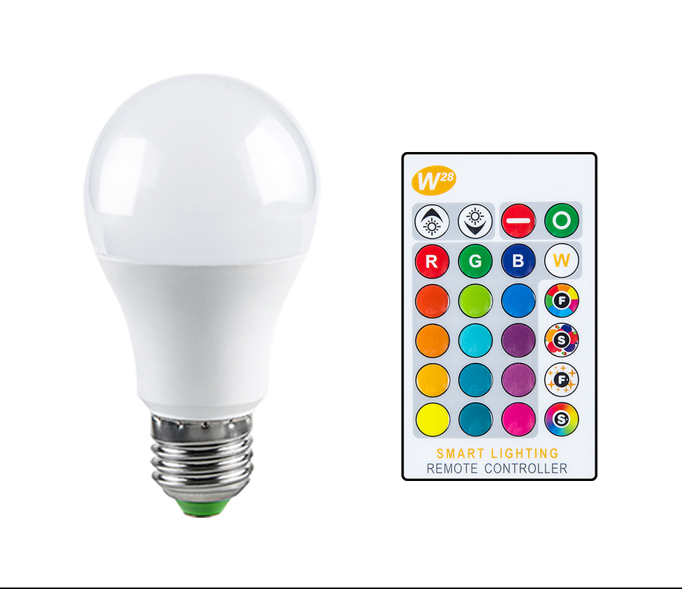 Magic RGB LED Light Bulb GU10 E27 AC85-265V Smart Lighting Lamp Color Change Dimmable With IR Remote Controller 5W 10W 15W Light (15)