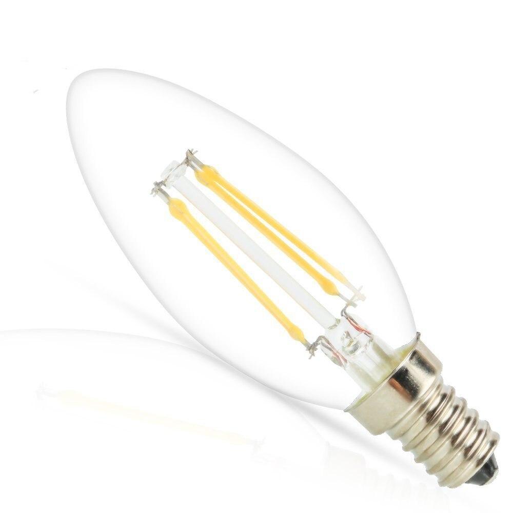 Lampadina A Incandescenza Storia us $1.77 29% di sconto|ha condotto la lampada della lampadina a  incandescenza e14 a lume di candela lampadina 2w 4w 6w c35 220 v/110 v  retro antico