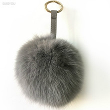hot deal buy 2 colors fashion pompom bag charms buckle fox wool ball bag hanger fur bag parts & accessories ball pendant bag chain small gift