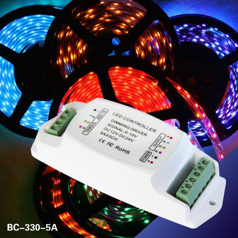 hight resolution of bc 330 5a led dimming driver 5a 3ch 0 1 10v led rgb driver 0 10v cv dimming driver in dimmers from lights lighting on aliexpress com alibaba group