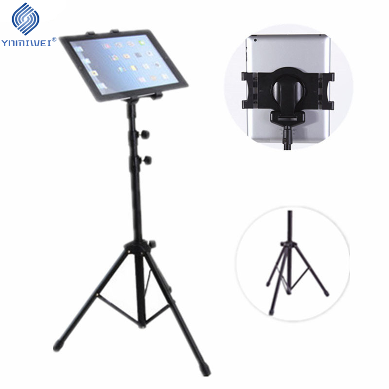 Universal 7-10 inch Tablet Tripod Mount Holder For Lenovo Tab4 Kindle Fire Multi-direction Floor Tablet Stand For Samsung ipad tripod rotation tablet holder stand for ipad air mini 2 3 4 tablet mount 7 10 inch floor tripod stand for samsung kindle huawei
