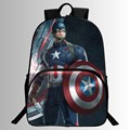 16-inch Prints Cool Hero Captain America Kids School Bags Avengers Students Backpack Children School Backpacks Boys Mochila Bag