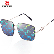 Oversized Square Sunglasses Women Design Brand Sung