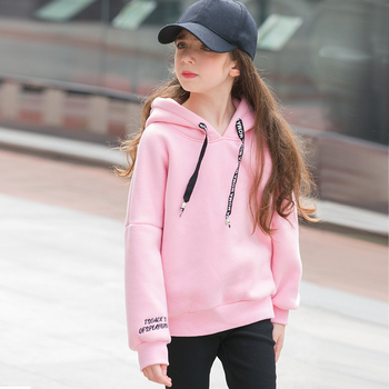 6 7 8 9 10 11 12 13 14 15 16 Years Old Teenage Girl Hoodies Winter Candy Color Sweatshirt Sweater With Fleece Hooded Kid Clothes vq30det エキマニ