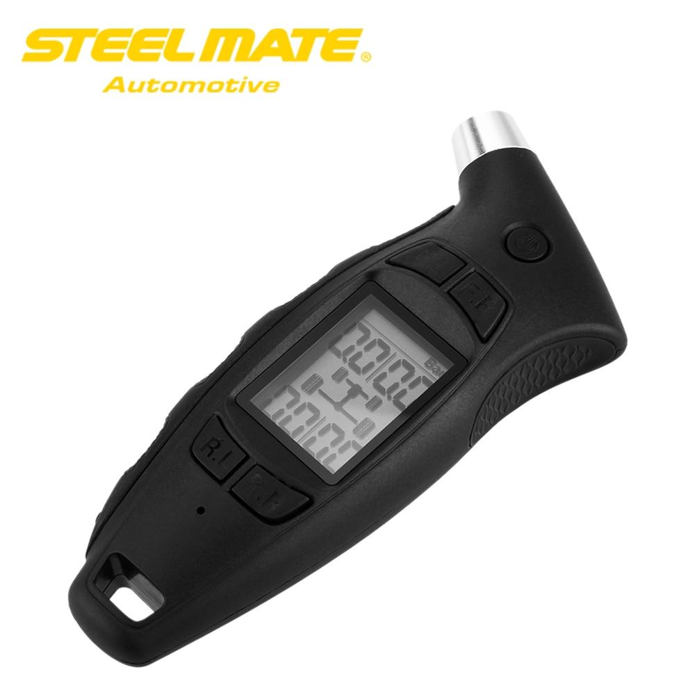 imágenes para 100% Original Steelmate TPMS DIY TC-01 Medidor de Presión de Neumáticos Digital Portátil con Pantalla LCD y Mango Ergonómico Cómodo