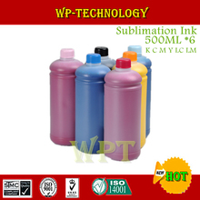 500ML*6 Sublimation ink Suit for Epson 6 color printer , heat transfer printing ink for mugs ,T shirt , Plastics etc
