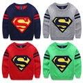 Kerst trui camisola Roupas infantis menina мальчиков перемычки шаблон свитера для детей супермен трикотаж strpes рукавом пуловер KD007