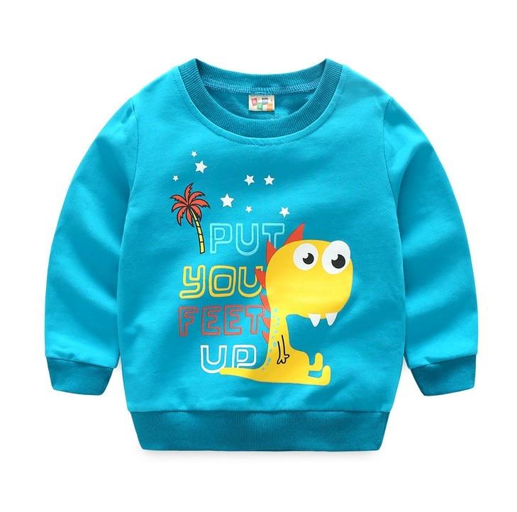 2017 Autumn Kids hoodies sweatshirts cotton Cartoon Print Jurassic World dinosaur boys girls Sweater coat tops toddler clothing
