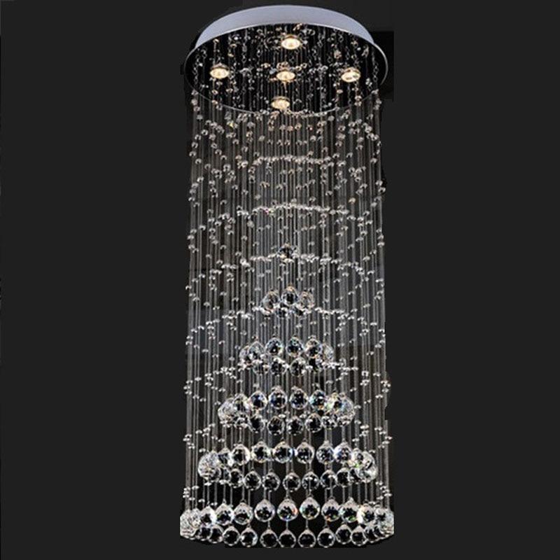 Luxury Crystal Chandelier Raindrop Lamp Modern Lighting Fixture Corriodr Stairs Balcony Lighting Home Lights PL338 бра raindrop a3168ap 1ab