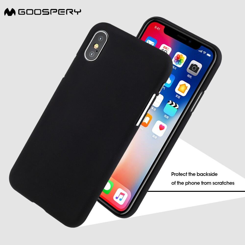 Mercury Goospery Case For Iphone 8 7 Soft Feeling Matte Anti Samsung Galaxy S7 Jelly Black X 10 Capa Fingerprint Tpu