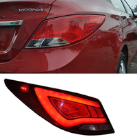 VLAND Factory For Accent Verna Solaris LED Taillights 2010 2011 2012 2013 With Plug and Play + One Year Warranty