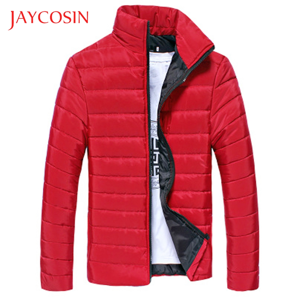 JAYCOSIN Boys Warm Stand Collar Slim Winter Zip Coat Men Outwear Jacket Stylish And Fashion High Quality Materials Daily Wearing(China)