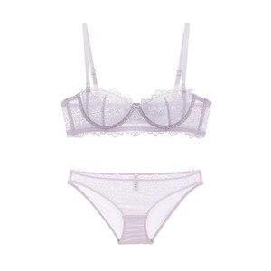 Image 2 - Varsbaby womens sexy lace push up underwear underwire adjusted straps bra sets