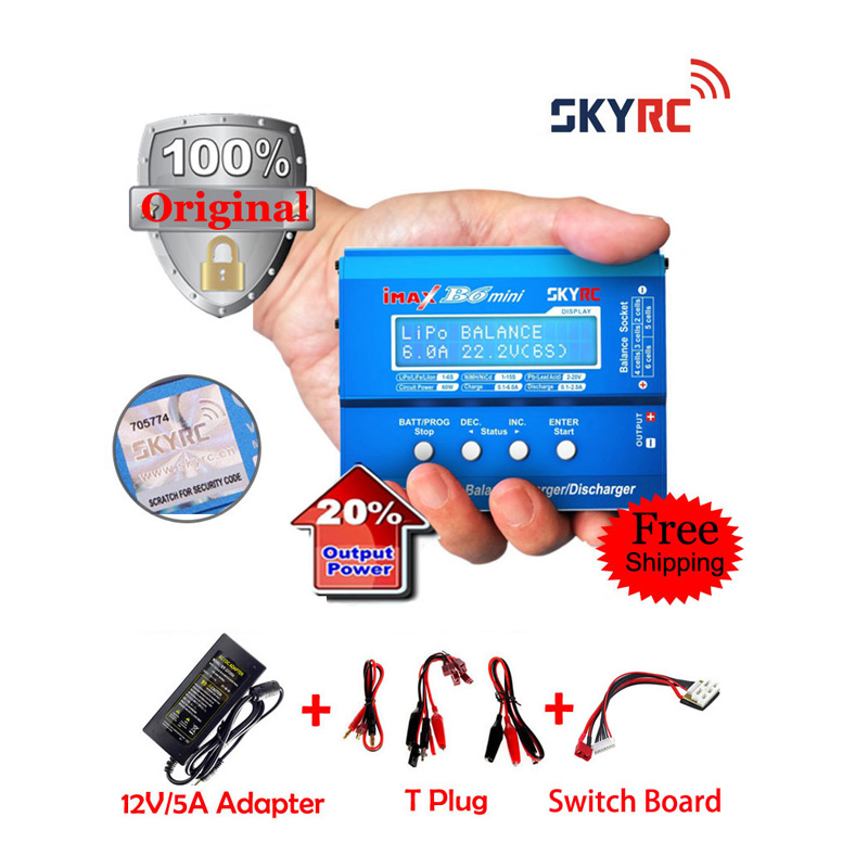 SKYRC iMAX B6 Mini Original+Adaper+Switch Board Professional Balance Charger / Discharger for RC Battery Charging