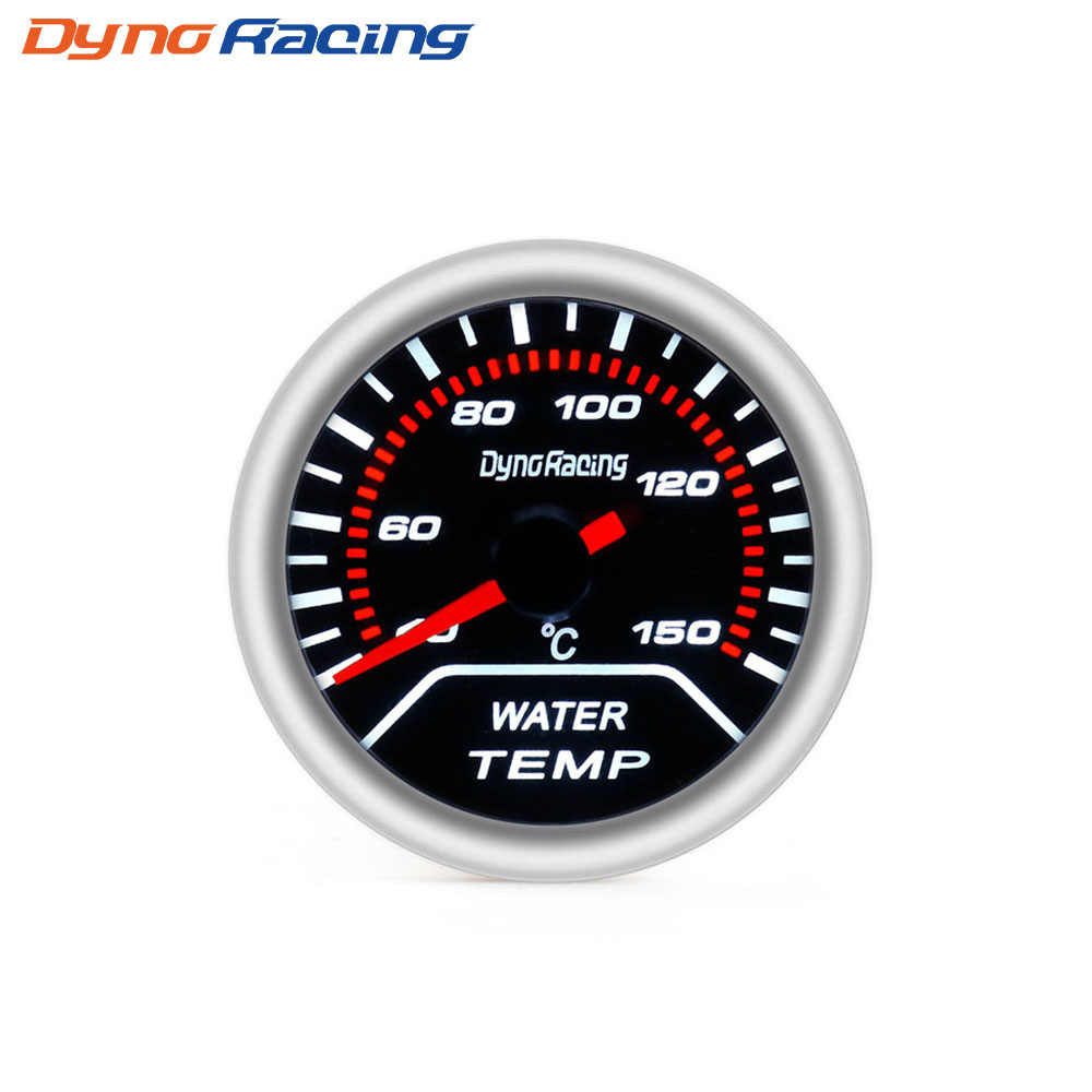 "Dynoracing Auto Pengukur Suhu Air 2 ""52 Mm Lensa Asap 40-150 Celcius Pointer Alat Pengukur Suhu Air Mobil meter BX101228"