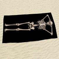 أوروبا والولايات المتحدة الساخن 3d مطبوعة نمط الجمجمة عظام جسم الإنسان الإبداعية منشفة منشفة