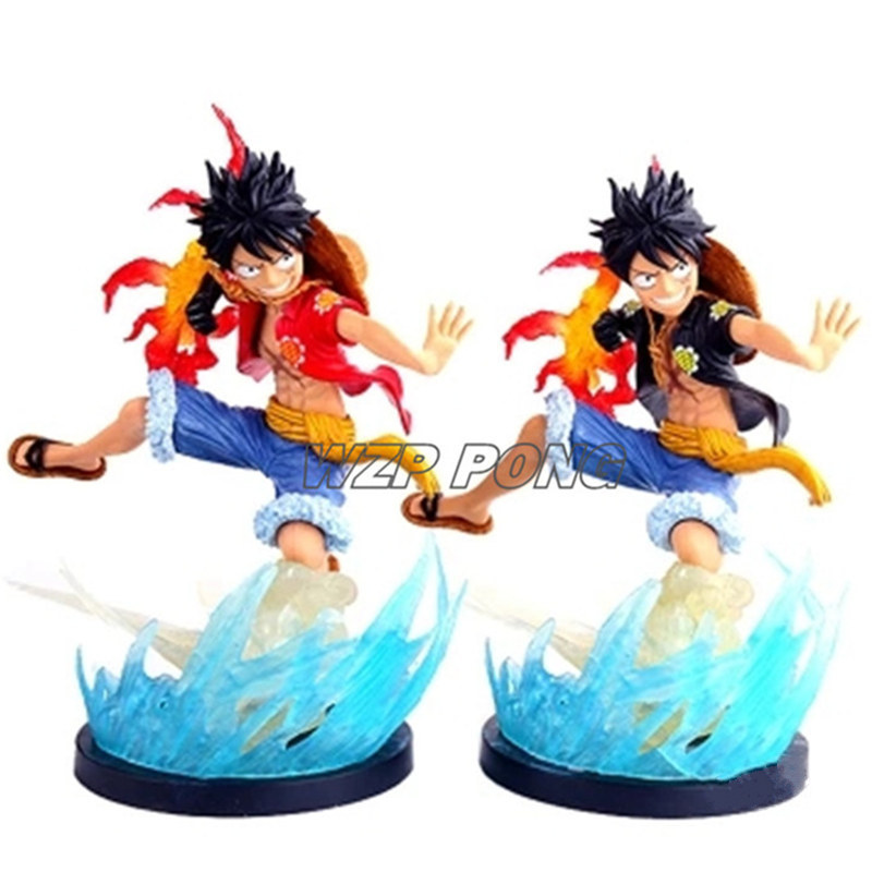 Collection Here One Piece Film Gold Monkey D Luffy Action Figure Black Clothes Ver Luffy Doll Pvc Acgn Figure Toys Brinquedos Anime 18cm Toys & Hobbies