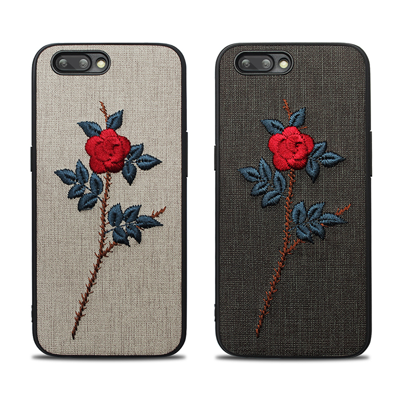 new fashion 3D embroidery flower phone case for iphone x