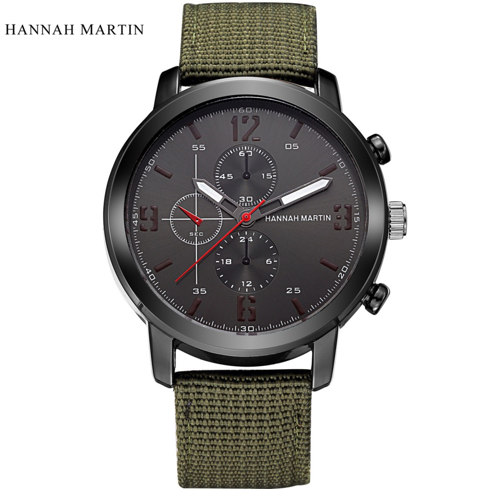 Brand Sport font b Military b font Watches Fashion Casual Quartz Watch Nylon Strap Klockor Men