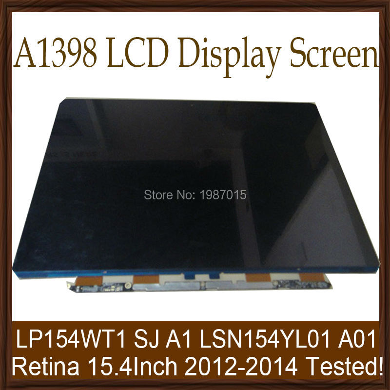 10pcs/lot 100% Tested Genuine NEW A1398 15.4 LCD Display Screen For Apple MacBooK Pro Retina 15 A1398 2012 2013 2014 Year