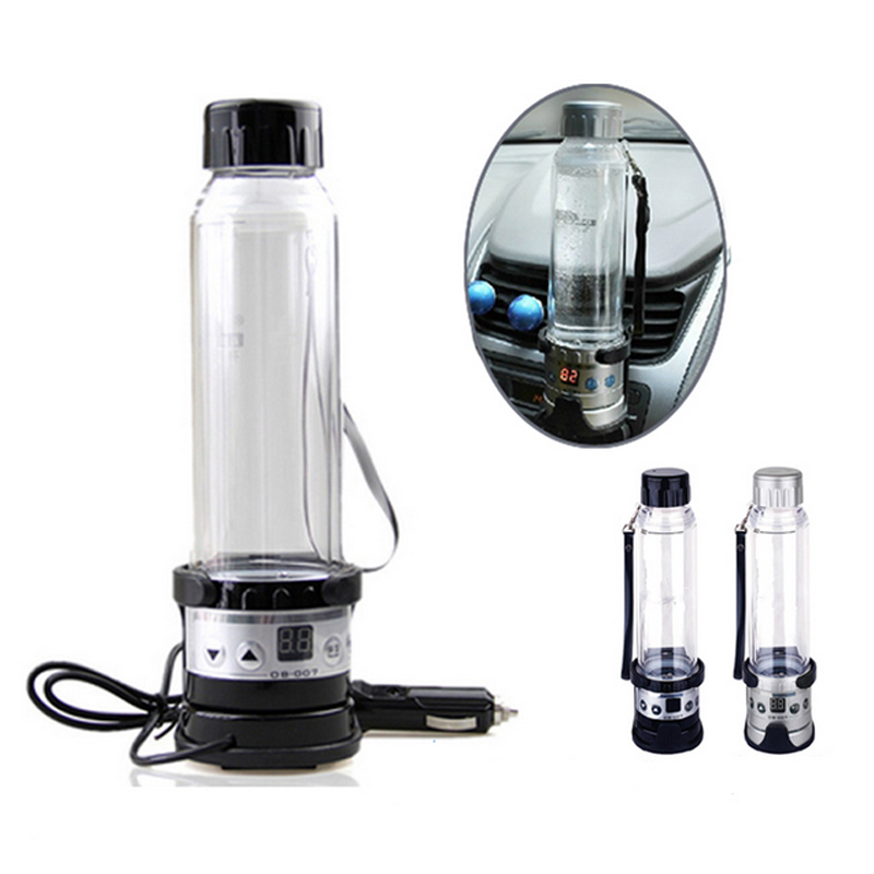 New 12V 24V 75W Car Electric Kettle 280ML Auto Heating Cup Travel Heated Cup Hot Water