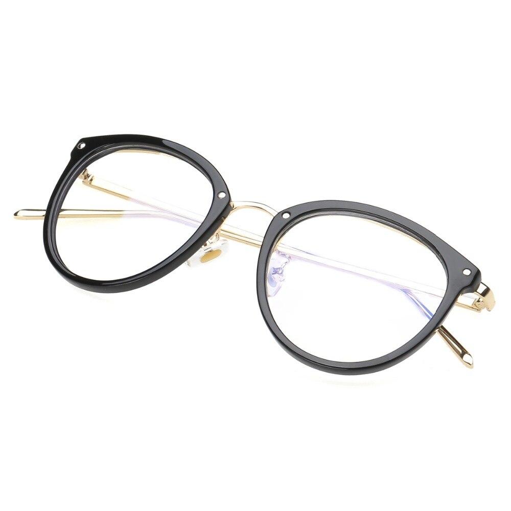Eyeglasses Eyewear Frame Fashion Sort Vintage Metal Optical Frame - Beklædningstilbehør - Foto 4