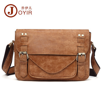 Vintage genuine leather shoulder bags for men in Men's Crossbody Bag Casual Business male Messenger Bags with free shipping