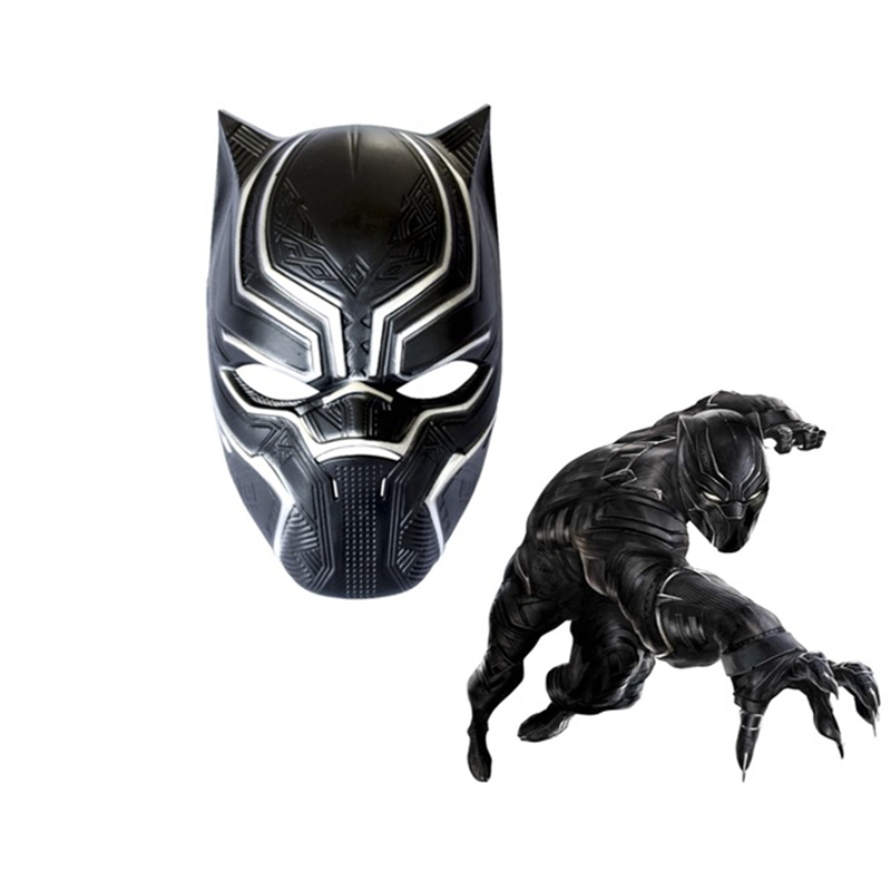 Minch Black Panther Masks Superhero Cosplay PVC Full Face ...