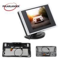 Japanese lisence platee led Assist Backup Reverse Monitor Auto TV Car 3.5 inch TFT LCD Car Monitor rear view camera monitor