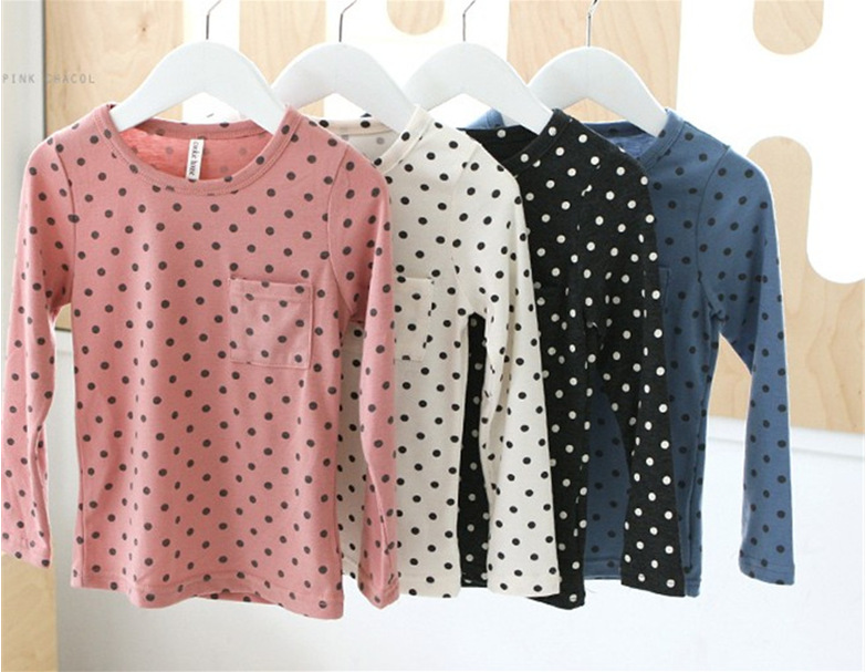 Lovely Toddler Baby Girls Polka Dot Long Sleeve Tops   Blouse   Casual Cotton   Shirt   baby girl   blouse