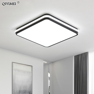 Image 4 - New Modern LED Ceiling Lamps For Living Room Remote Control Dimming For Dining Room Bedroom white and black lighting Lights