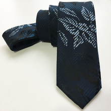 Designer's Skinny Tie Top Personality Necktie Green Flower Leaf Patterned Cravates Free Shipping
