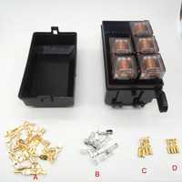 Car Seat Relay Fuse Box 5 Engine Compartment Insurance Car Insurance Holder Include 5 Relay 12V