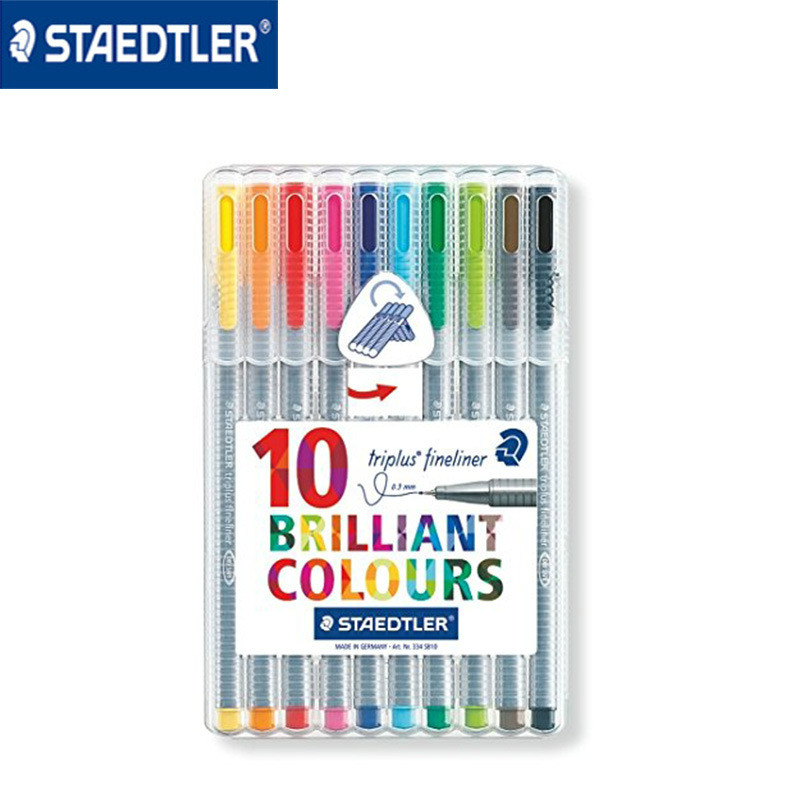 Authentic Germany STAEDTLER 10 colors fiber pen hook line drawing pen 0.3mm fineliner marker pen special office school supplies цена