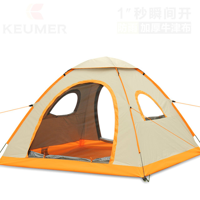 2018 New Portable Thickening Oxford cloth full automatic outdoor 3-4 people double speed open family camping tent special offer