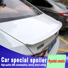 2011 2012 2013 2014 2015 for hyundai sonata spoiler rear trunk roof wing spoiler ABS material high quality by primer best pu primer grey black unpainted sports car rear trunk spoiler wing for hyundai sonata 8 2011 2014 no drilling needed