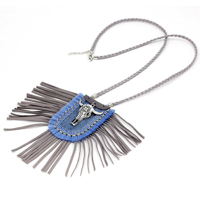 efcb10bf727 VONNOR Jewelry Women Necklaces Bohemia Thread Tassel Boho Necklace Sweater Chain  Alloy Cow Head Pendant-in Pendant Necklaces from Jewelry & Accessories on  ...