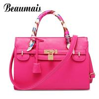 Beaumais American and European Style Lock Women Handbag Elegant Women Shoulder Bags Messenger Bag Ladies Tote Hand Bag BG219