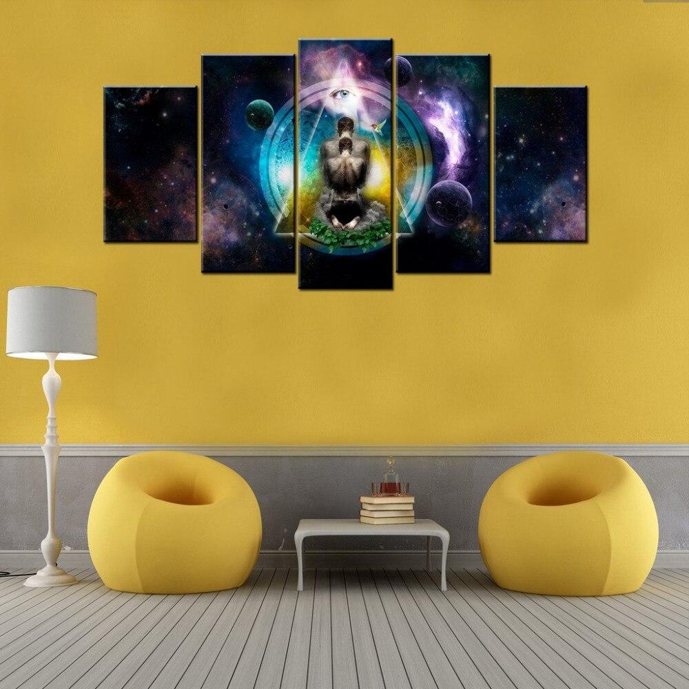Drop shipping 5 sets/panels Meditation Wall Art Print on Canvas ...