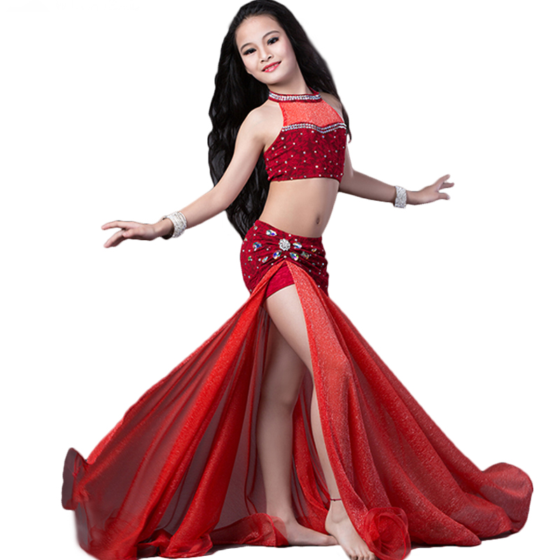 Girls Belly Dance Costumes Sexy Clothes Kids Indian Oriental Costume Children Belly Dancing Dress Stage Performance Wear DN1611