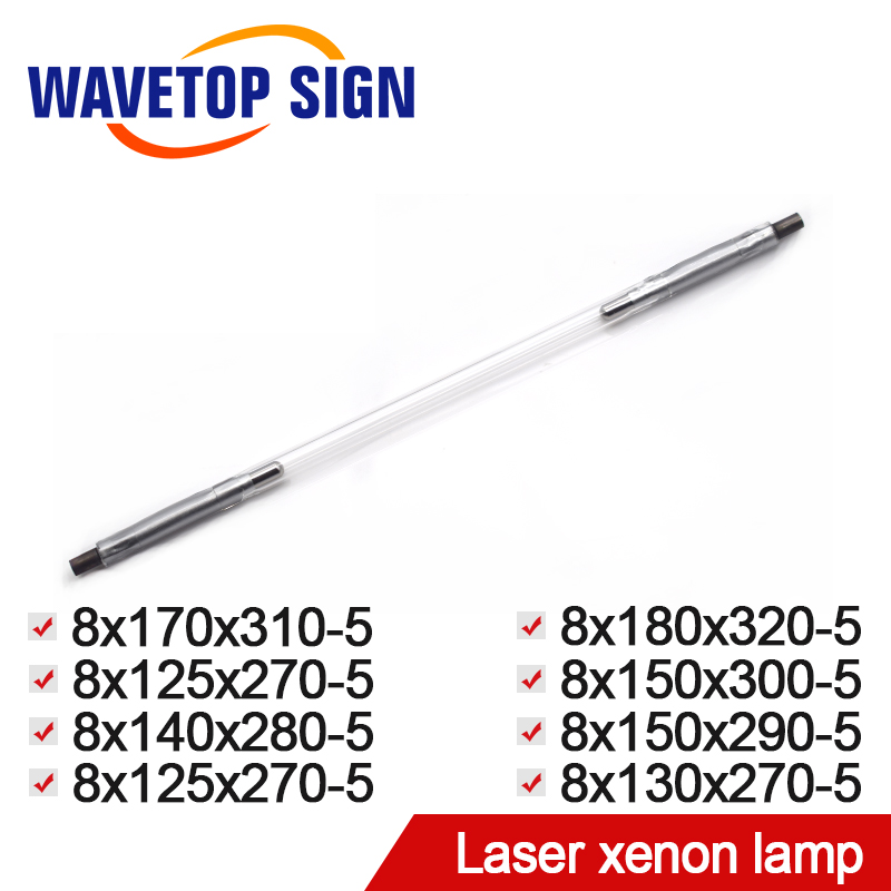 Laser Xenon Lamp 8*125*270*5 8*140*280*5 Use for Laser Welding Machine Laser Mark Machine Other Size also can be Making laser welding machine crystal rod laser cutting machine yag crystal rod size 5 80 5 85mm