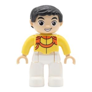 Image 3 - Castle figure Prince Princess Doll Set Bricks Big Particles Building Blocks Compatible with Duplo DIY Accessory Toys For Kid