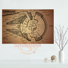 Buy blueprint paper and get free shipping on aliexpress 007 blueprint star wars millennium falcon 20x30 poster wall poster for lover malvernweather Images