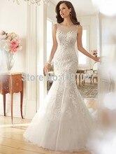 2015 Fashion Vintage Lace Mermaid Wedding Dress Train Vestidos Sexy Plus Size Wedding Gown Bridal Dress Casamento AS176