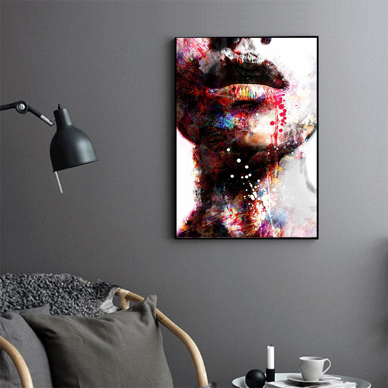 HD-Canvas-Painting-Wall-Art-Pictures-prints-colorful-woman-on-canvas-no-frame-home-decor-Wall