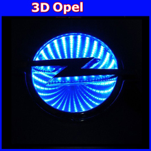 auto opel emblem sticker light 3D logo light decorative lights For opel Series car badge LED lamp